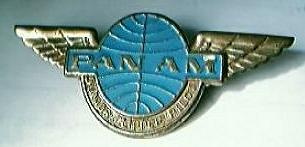 Vintage PAN AM Airlines Junior Clipper Pilot Badge