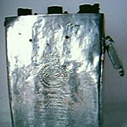 Vintage EDISON Miners Electric Cap Lamp Battery