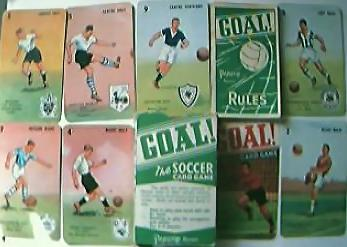 """Vintage """"GOAL"""" Pepys Children's English Football Playing Cards"""