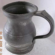 Antique  JAMES YATES Pewter Tankard Circa 1880