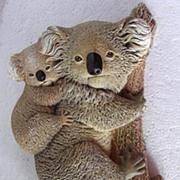 Vintage BOSSON Koala Wall Plaque