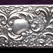 Edwardian Sterling Silver Art Nouveau CARD CASE