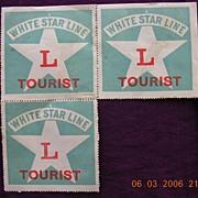 Vintage White Star Line Tourist Class Sticker