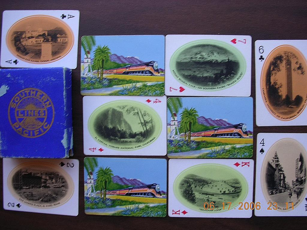 "Vintage Railways Playing Cards ""Southern Pacific Line"" Circa 1920's"