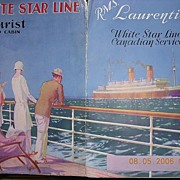 WHITE STAR Liner R.M.S LAURENTIC Vintage Advertising Pamphlet