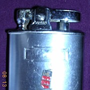 Vintage CUNARD LINE Small Ladies Flint & Wick Lighter Circa 1950's-60's