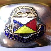 S.S. BENDIGO Souvenir Napkin Ring P & O Lines