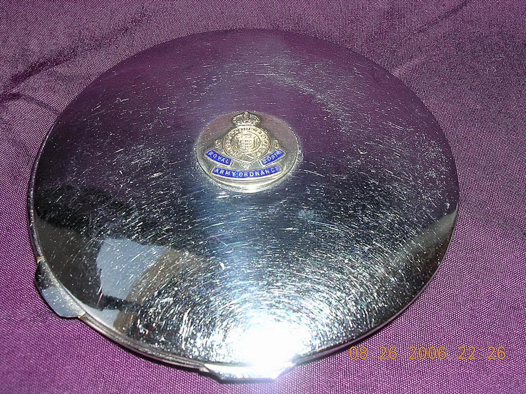 "Vintage Powder Compact "" Royal Corps Army Ordinance"""
