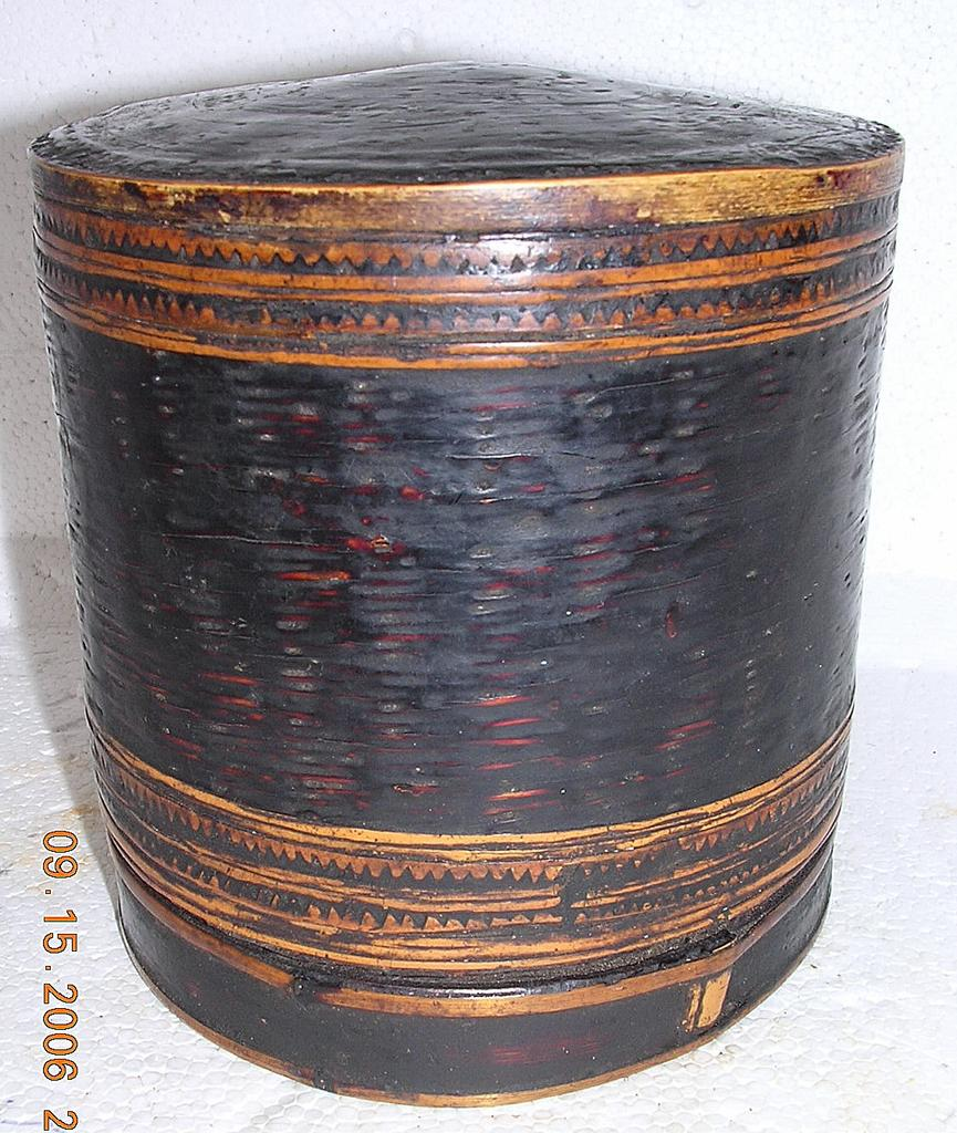 19TH CENTURY Woven Burmese Betel Nut Container