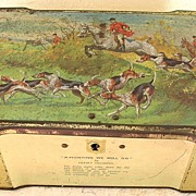 "Vintage British ""CLARINCO"" Sweets Hunting Scene Tin"