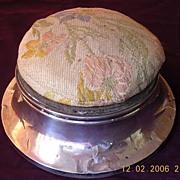 Edwardian Sterling Silver Pin Cushion Hallmarked London 1912