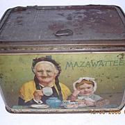 "Vintage Large Mazawatte Tea Tin ""Old Folks At Home"""