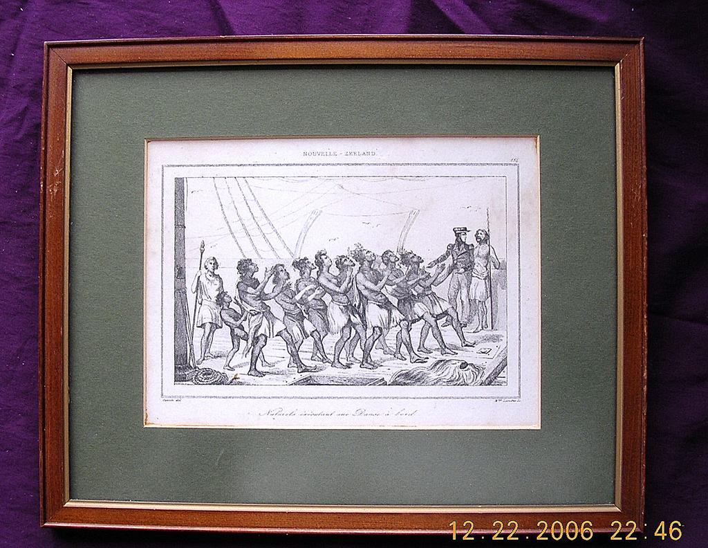 Early 19th Century French Engraving Nouvelle Zealand