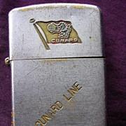 Vintage RMS CARONIA Cunard Line Advertising Cigarette Lighter