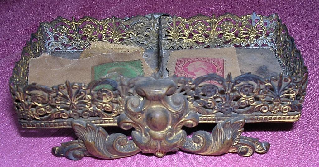 Ornate Small Victorian Stamp Holder