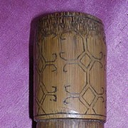 Vintage Timorese Bamboo Tobacco Container