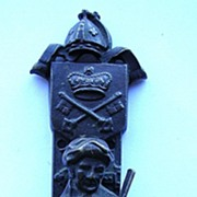 "Victorian ""Violin Player"" Bronze Door Knocker"