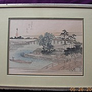 1920's Japanese Water Colour Painting