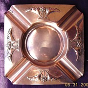 VICTORIANA Art Nouveau German WMF Copper Ashtray