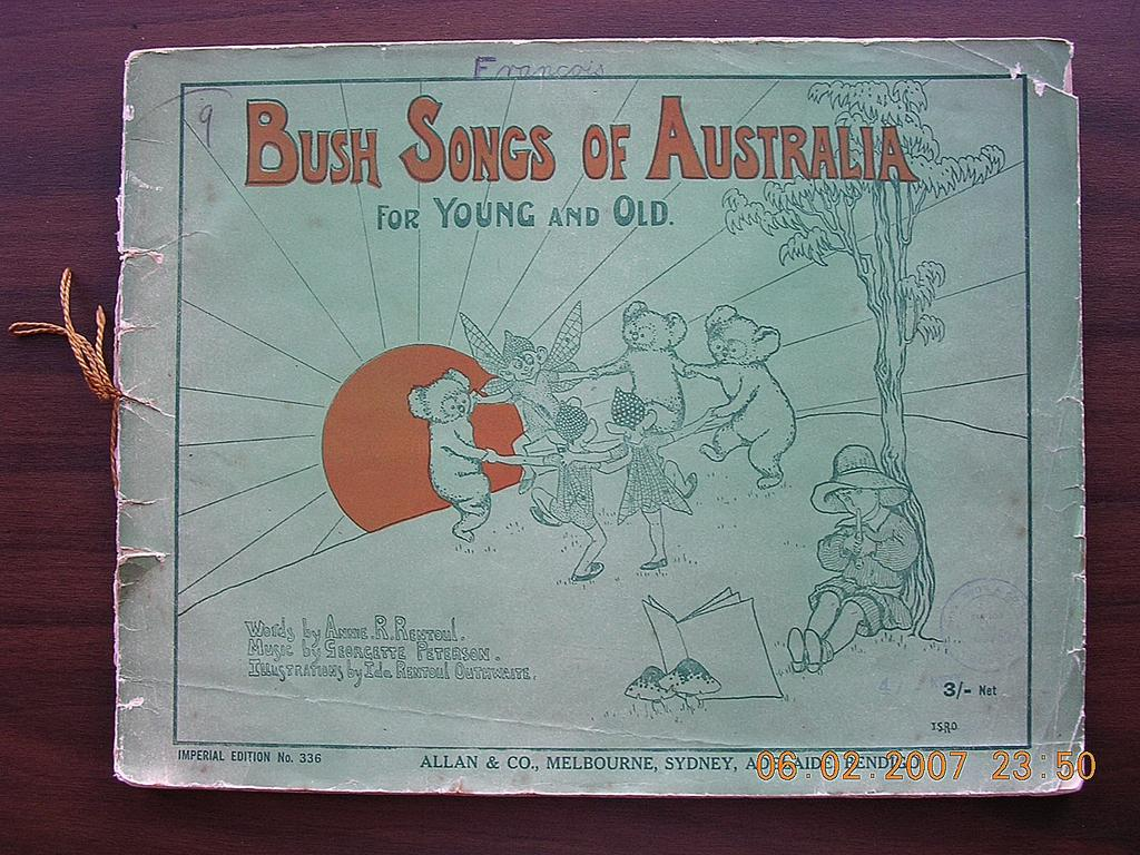 """Victorian Sheet Music """"Bush Songs of Australia For Young & Old"""""""