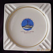 Commemorative US NAVAL Ashtray For Icebreaker 'USCGC EASTWIND' 1960
