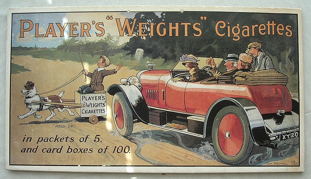 Vintage Tobacco Advertising 'PLAYERS WEIGHTS' Cigarettes