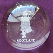 Large Vintage Scottish Piper Paper Weight