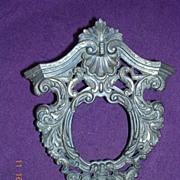 Victorian Miniature Ornate Bronze Picture Frame