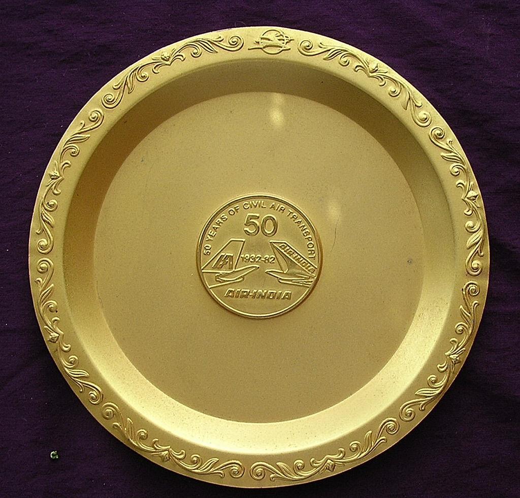 Vintage AIR INDIA Commemorative 50 Year Dish