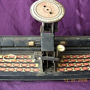 Vintage Toy 'MARX' Mr Dial Tin Typewriter Circa 1930