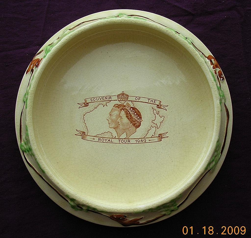 Rare 1949 Royal Tour Of Australia Souvenir Bowl