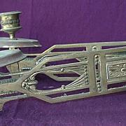 Large Edwardian Double Arm Art Nouveau Piano Sconce
