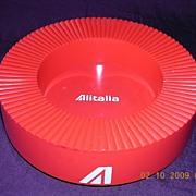 AIR ITALIA Retro Bright Red Advertising Ashtray