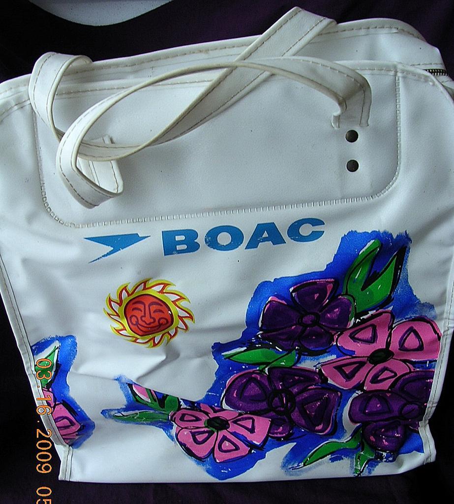 "Vintage BOAC ""Tropical"" Airline Cabin Bag"