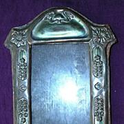 Victorian Art Nouveau Pressed Copper Picture Frame