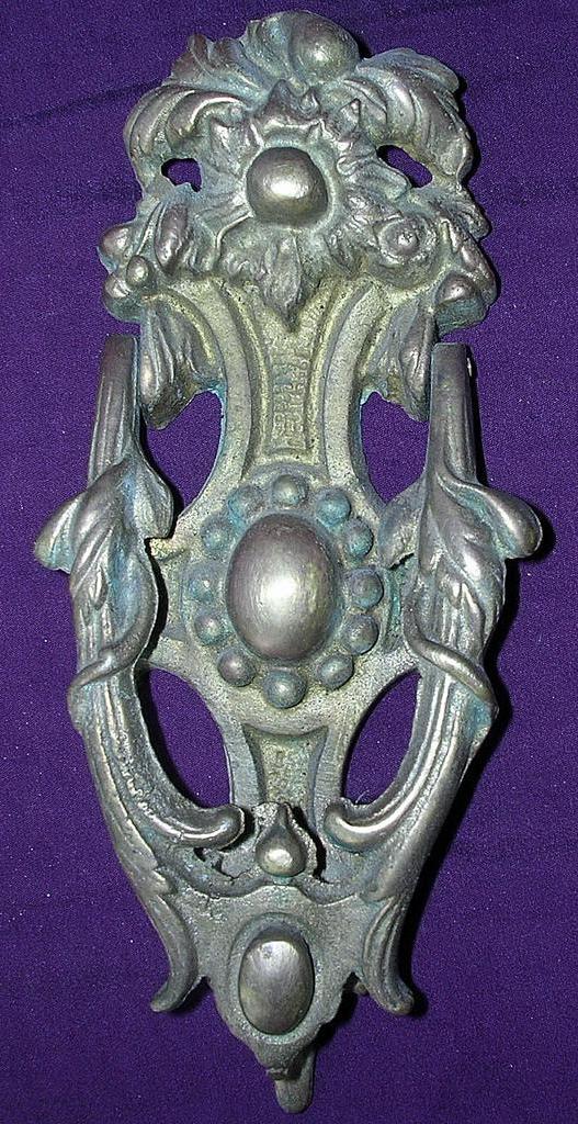 Ornate Nouveau Cast Brass Door Knocker