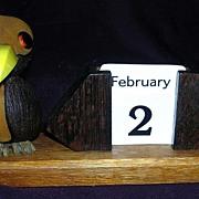 Art Deco Dodo Bird Date Calendar Circa 1930's