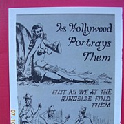 WW2 Vintage Small GI Comedy Card Pacific Island Native Girls