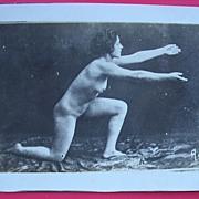 Vintage Nude Nature Lover Exerciser Postcard
