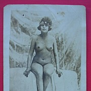 French Nude Nature Lover Postcard Circa 1900