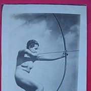 "Vintage French Nude ""Archer"" Postcard"