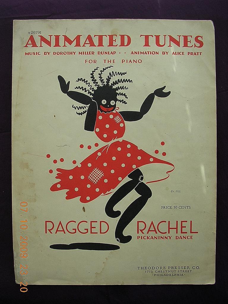 "Vintage Negro Sheet Music""Ragged Rachel"" 1939"