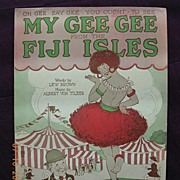 """Vintage Sheet Music """"My Gee Gee From The Fiji Isles"""""""