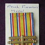 Vintage French Fireman's Medal
