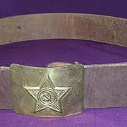 Vintage SOVIET UNION Army Belt & Buckle