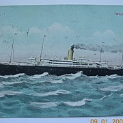 Postcard White Star Line 'ARABIC' Posted 1905