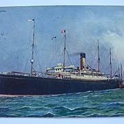 Postcard White Star Line 'CYMRIC' Postally Used 1905