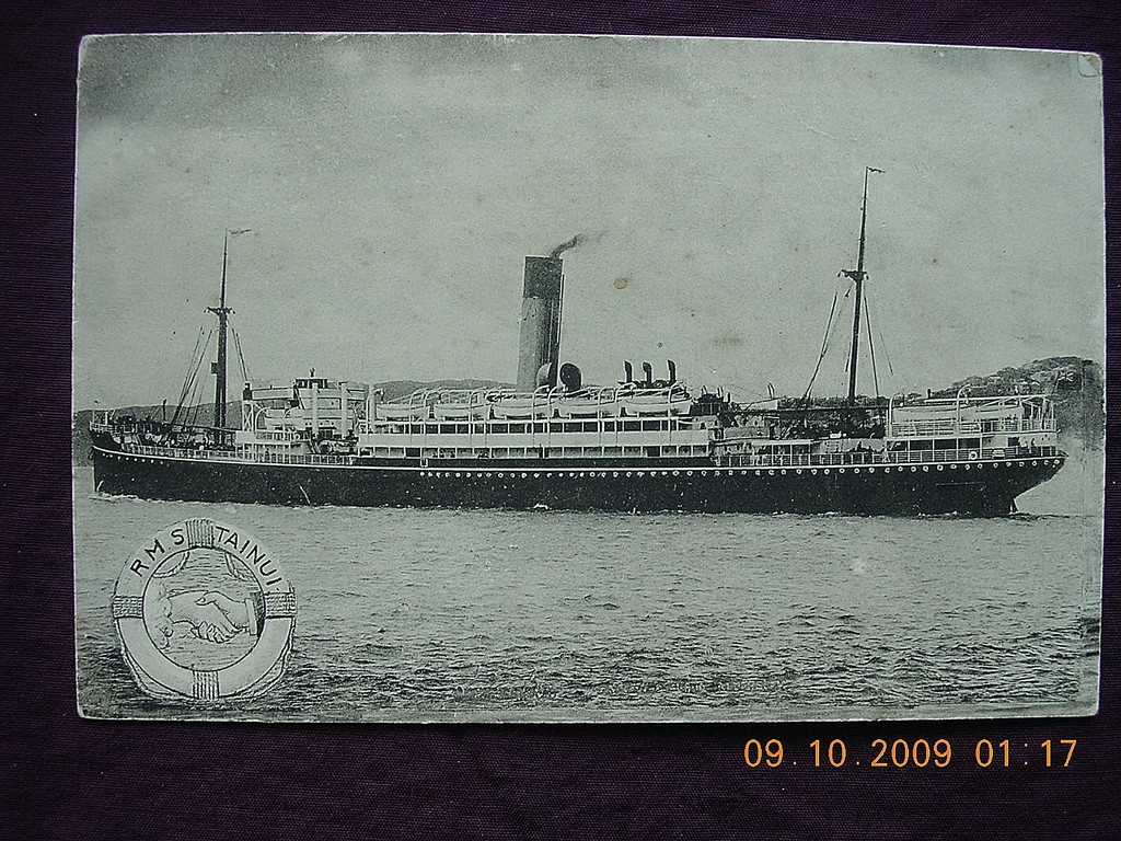 Shaw Savill & Albion Liner 'R.M.S. Tainui Vintage Postcard