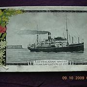 A.US.N. Line 'T.S.S. Orungal' Vintage Souvenir Menu