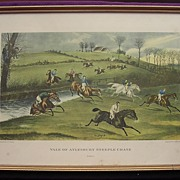 Vintage Print 'Vale Of Aylesbury Steeple Chase'